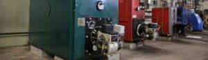 Row of high efficiency boilers