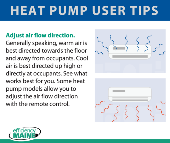 Heat Pump User Tip – Adjust air flow direction