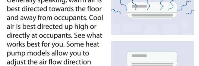 Heat Pump User Tip – Adjust air flow direction
