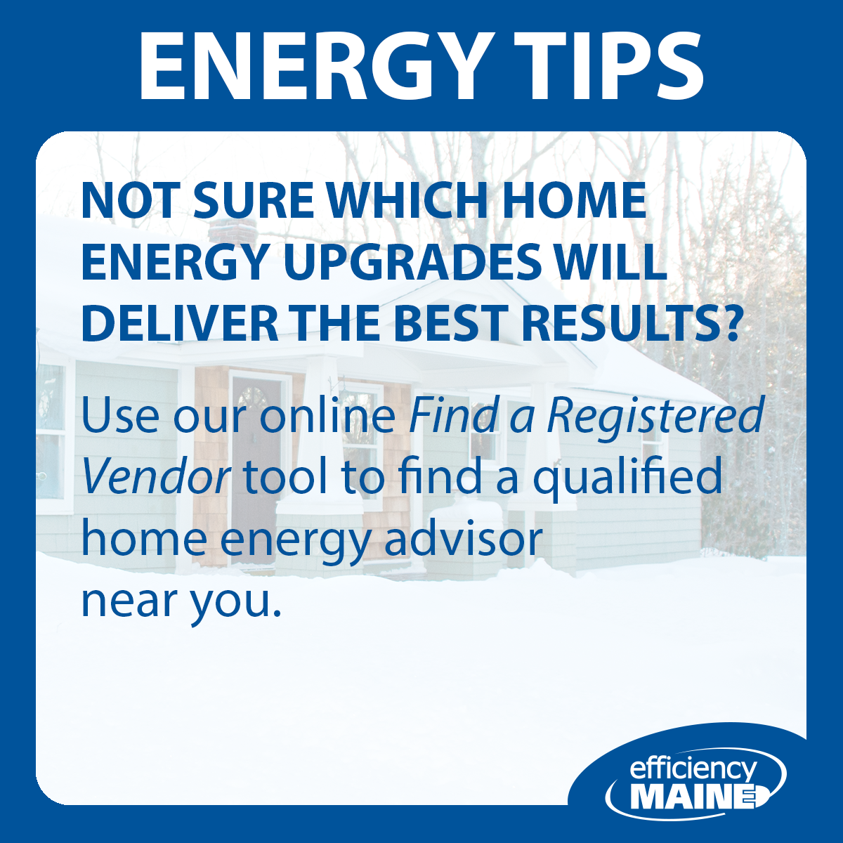 Find an Energy Advisor
