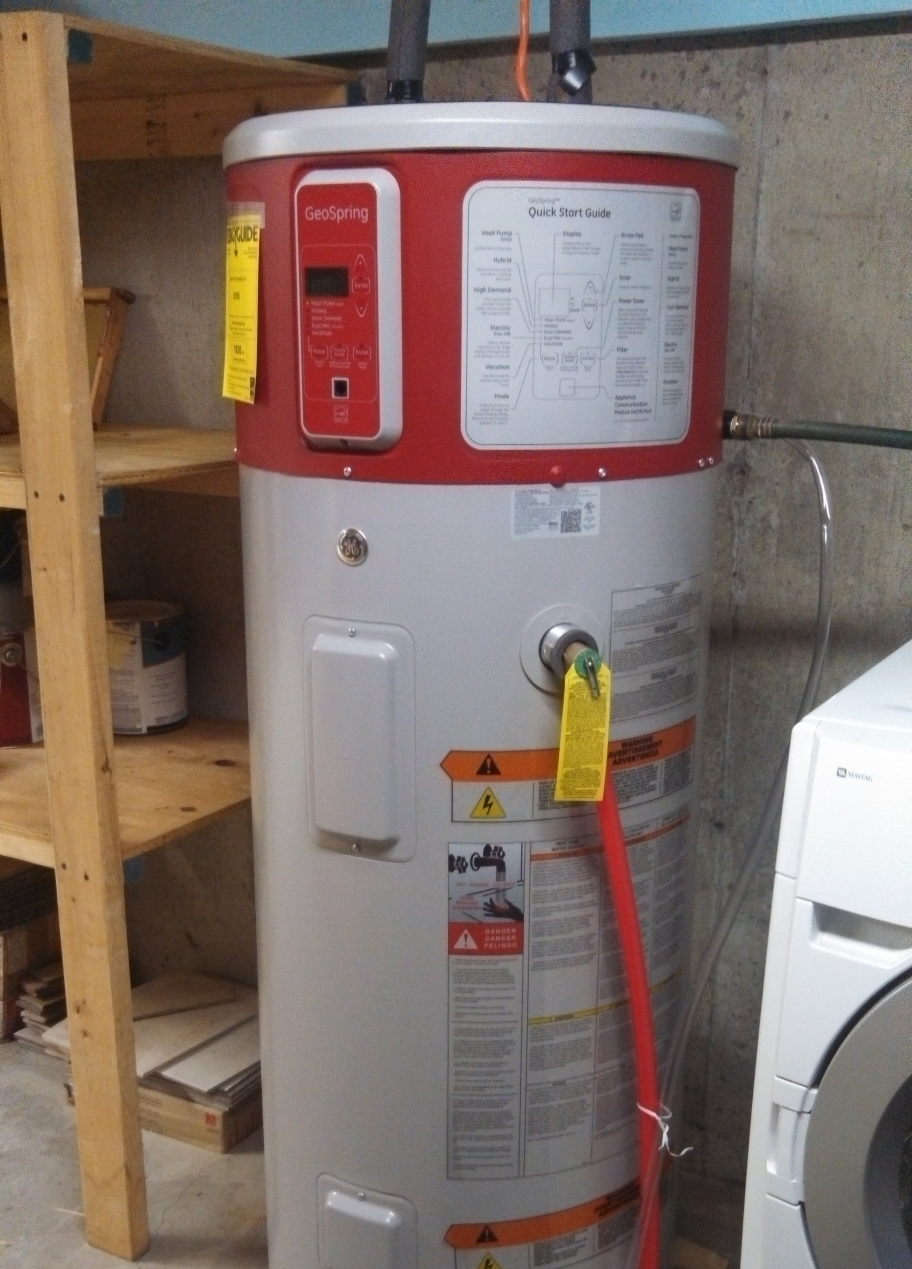 heat pump water heater - Electric Water Heater Installation