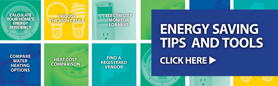 Energy saving tips and tools