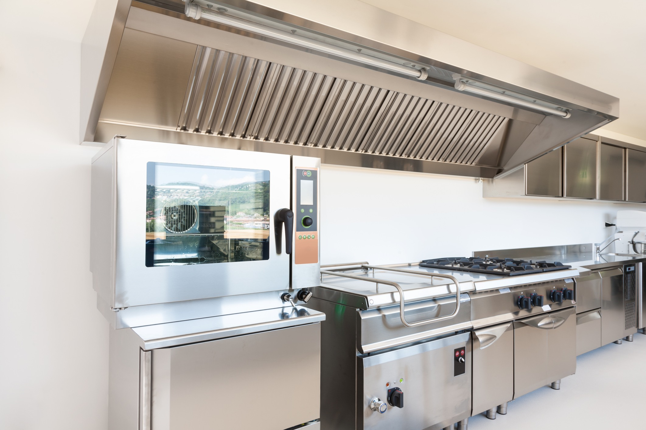 Stainless steel commercial kitchen | Efficiency Maine